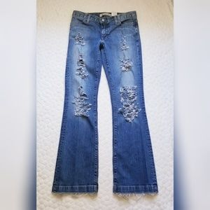 Gap Long & Lean distressed jeans flare 4 destroyed